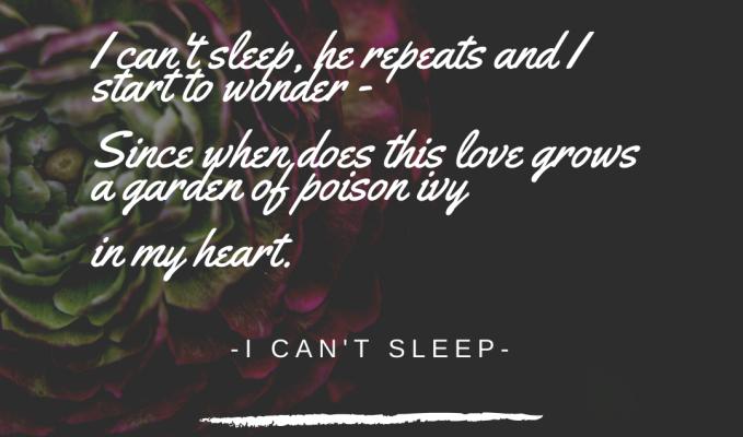 #i can't sleep