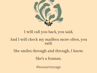 #leave a message